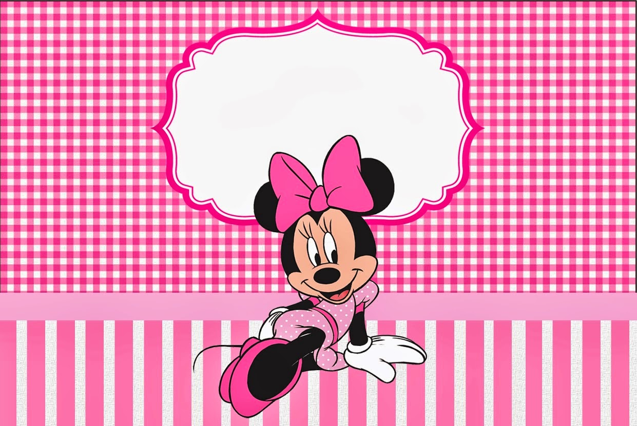 Minnie Pink Squares Free Printable Candy Bar Labels Oh