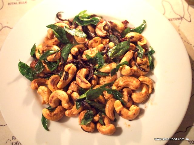 B kyu sri lanka tour ella badulla devilled cashews fried with fresh curry leaves and red onions the ultimate beer snack to totally blow our street food cred we also had vegetable pizzas forumfinder Images