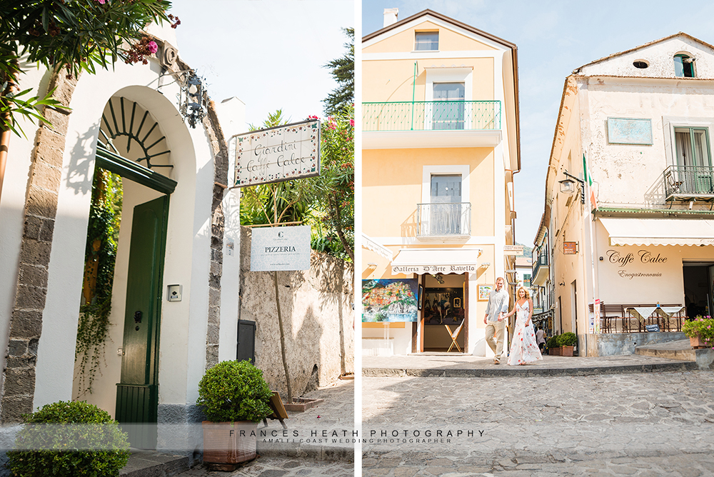 Ravello scenery details doors and streets