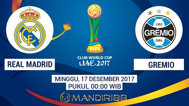 Real Madrid akan menghadapi Gremio pada final Piala Dunia Antarklub  Berita Terhangat Prediksi Bola : Real Madrid Vs Gremio , Minggu 17 Desember 2017 Pukul 00.00 WIB
