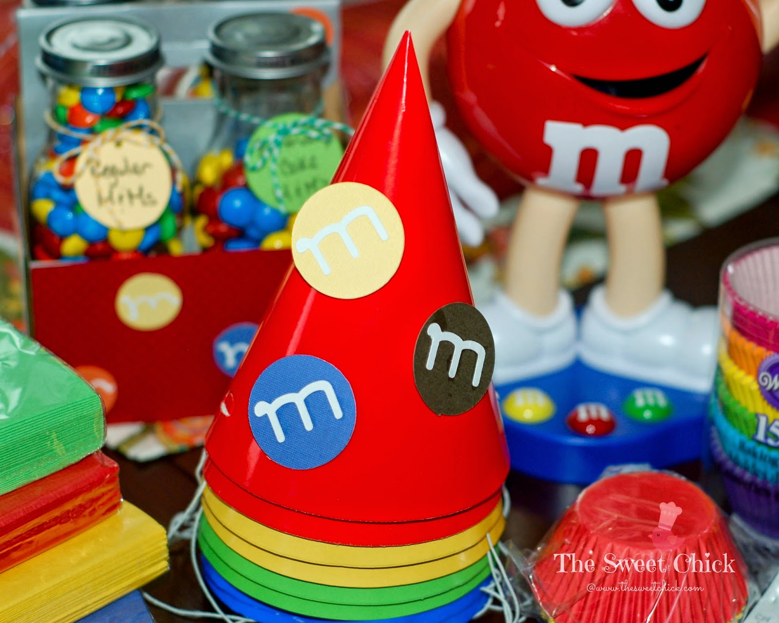 M&M Party Hats by The Sweet Chick
