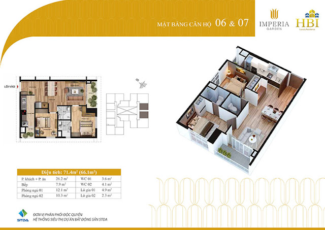 Thiết kế căn hộ 06 07