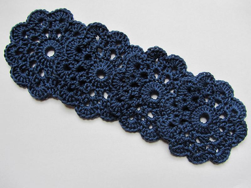Indigo Knitwear Gehaakte Onderzetters Flowers Feathers