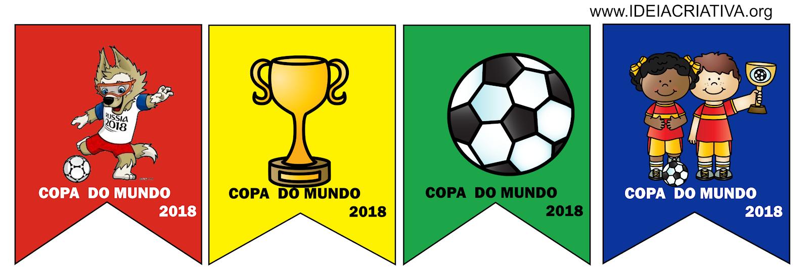 Copa Junina Bandeirolas Para Imprimir Com Figuras De Futebol Ideia