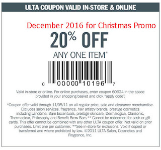 free Ulta coupons december 2016