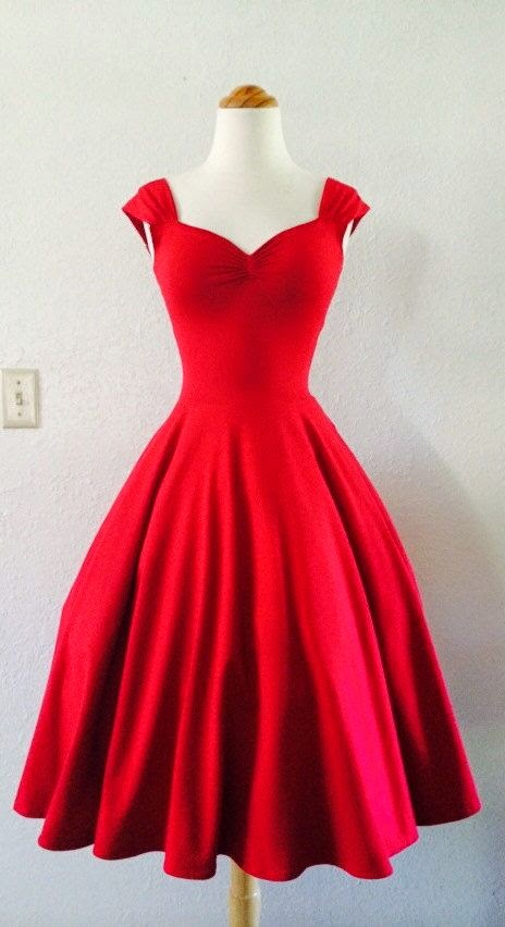 Cherry Red Rockabilly Dress