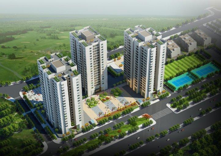 Phối cảnh tổng thể Khu căn hộ cao cấp Việt Hưng Green Park