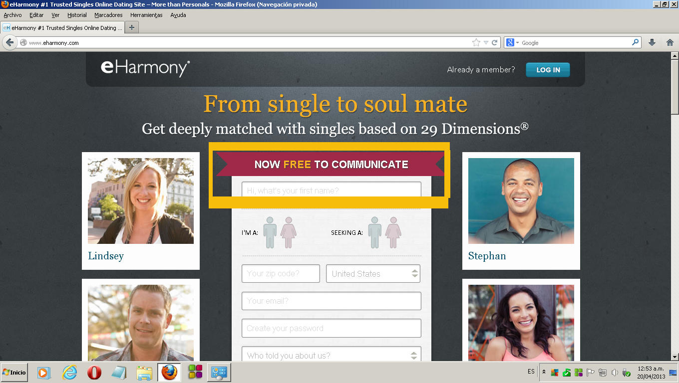 Eharmony free dating site