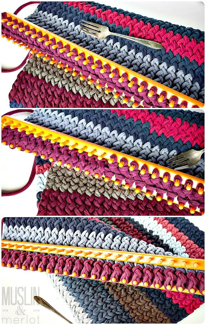 Knitting Loom T Shirt Rug Muslin And Merlot