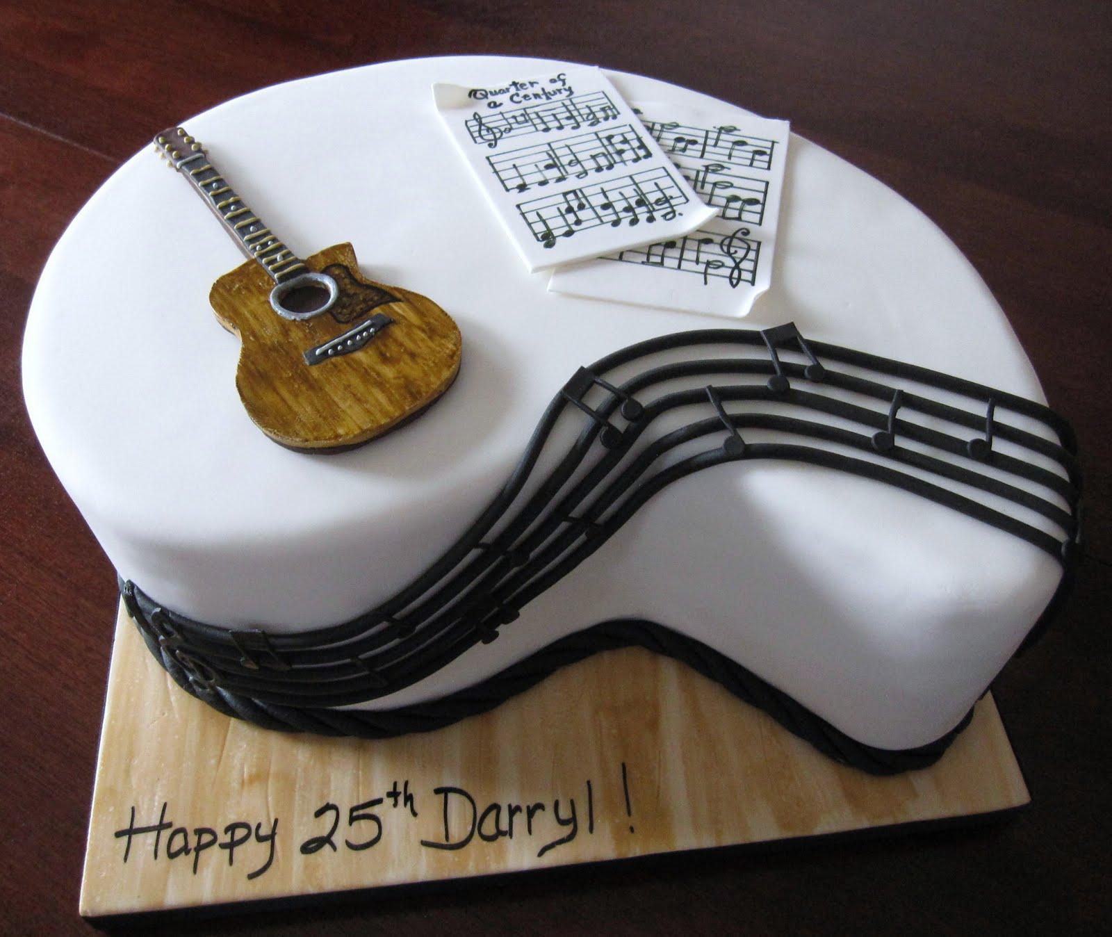Happy Birthday With Guitar Matt Cake