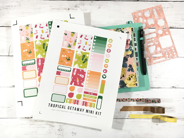 Free Cricut Explore Planner Stickers