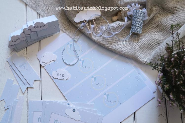 Party-kit para comuniones /Comunión y bautizo 2 en 1/Detalles y recordatorios handmade para bautizo y comunión diseño de Habitan2