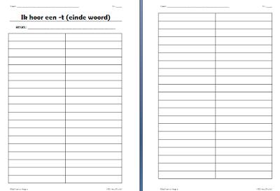 Gietjes corner schrijf ik nu een t of een d op het einde van een woord - Werkblad eindigen ...