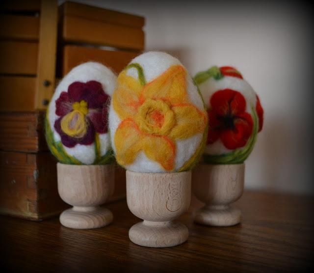 Życzenia Wielkanocne i filcowane jaja :)
