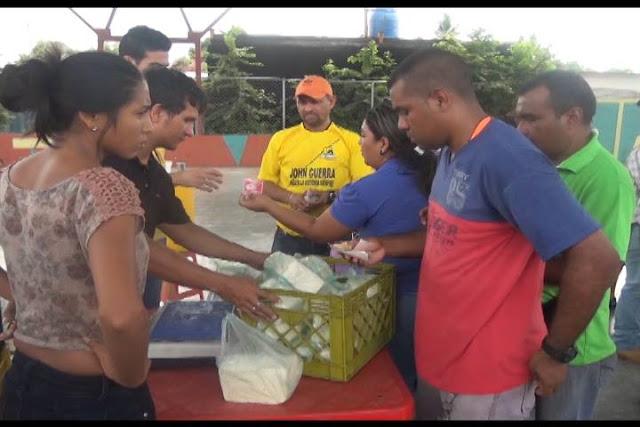 Realizada jornada de venta de queso llanero a precio justo en  San  Fernando.