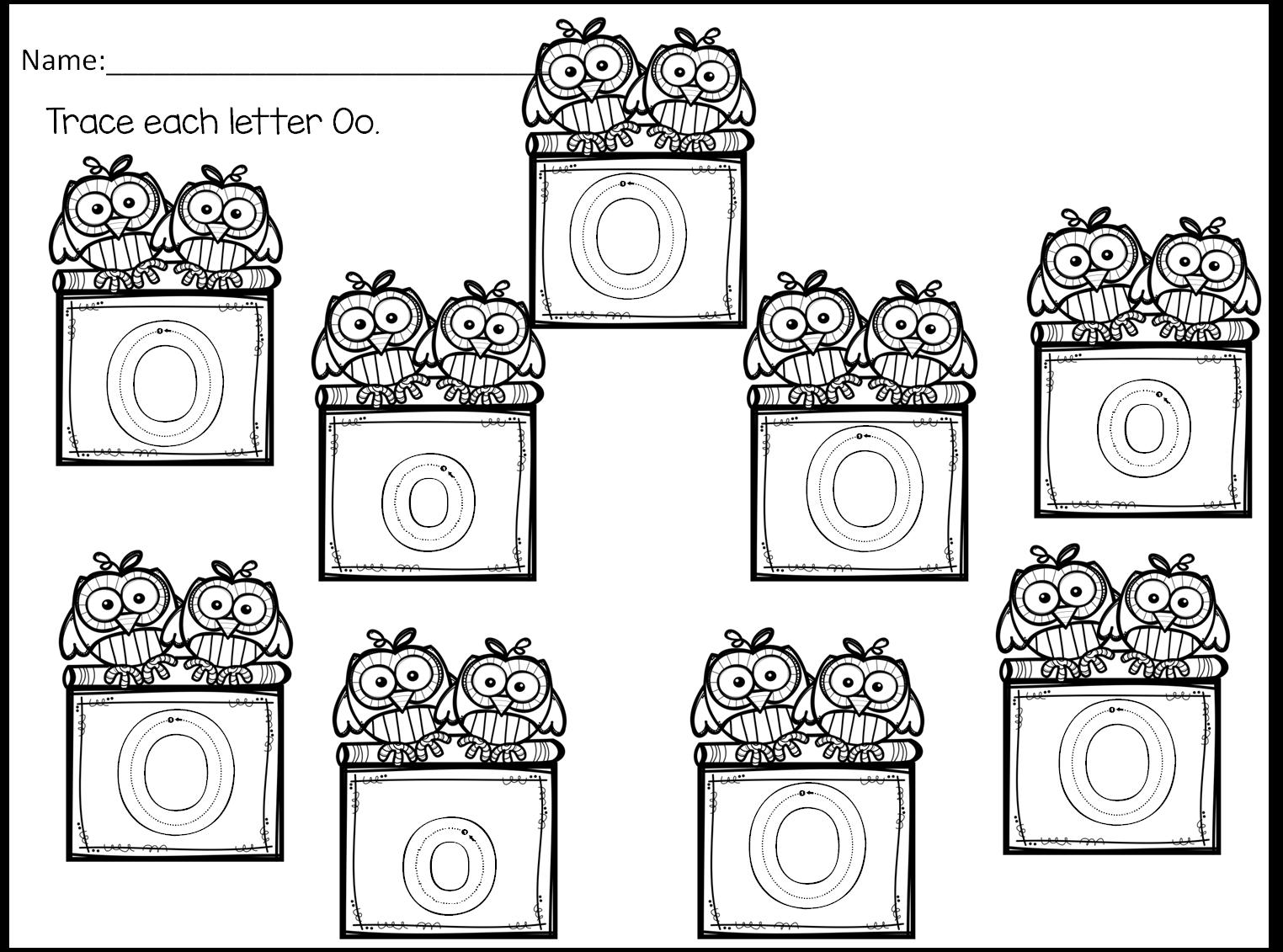 Little Owl's Night- Preschool Book Companion- Letter O
