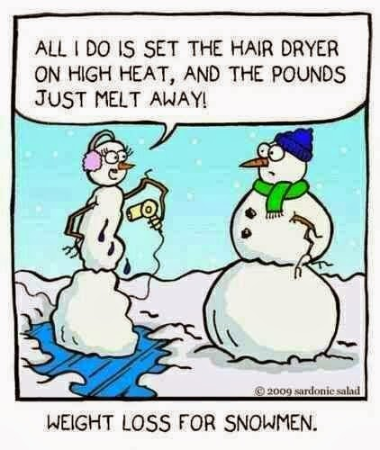 Snowman Weightloss Funny Joke Pictures