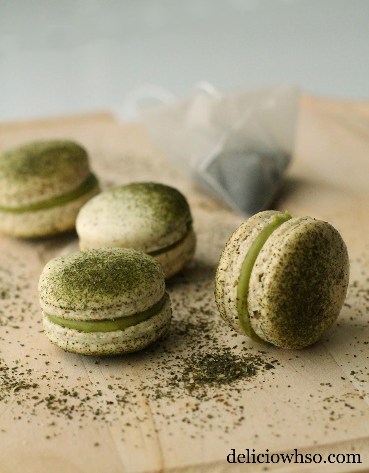 delici owh so green tea macarons