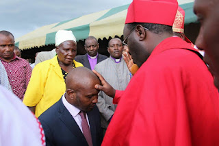 Moses Kuria blessed in his home church.