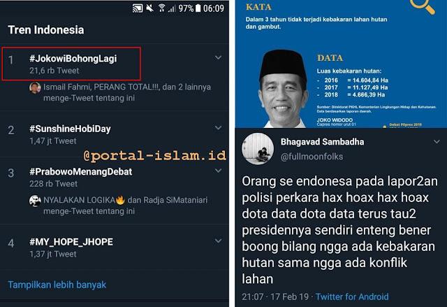 Pasca Debat Capres, #JokowiBohongLagi Jadi Trending Topik No.1