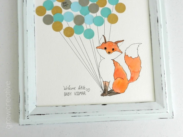 Watercolor Fox, Nursery Decor