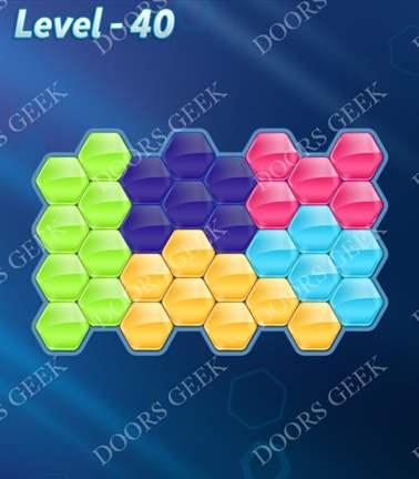 Block! Hexa Puzzle [5 Mania] Level 40 Solution, Cheats, Walkthrough for android, iphone, ipad, ipod