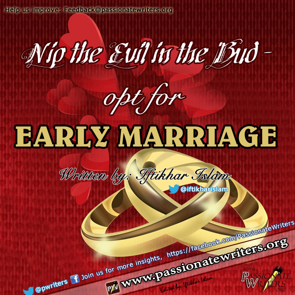 opt for Early marriage