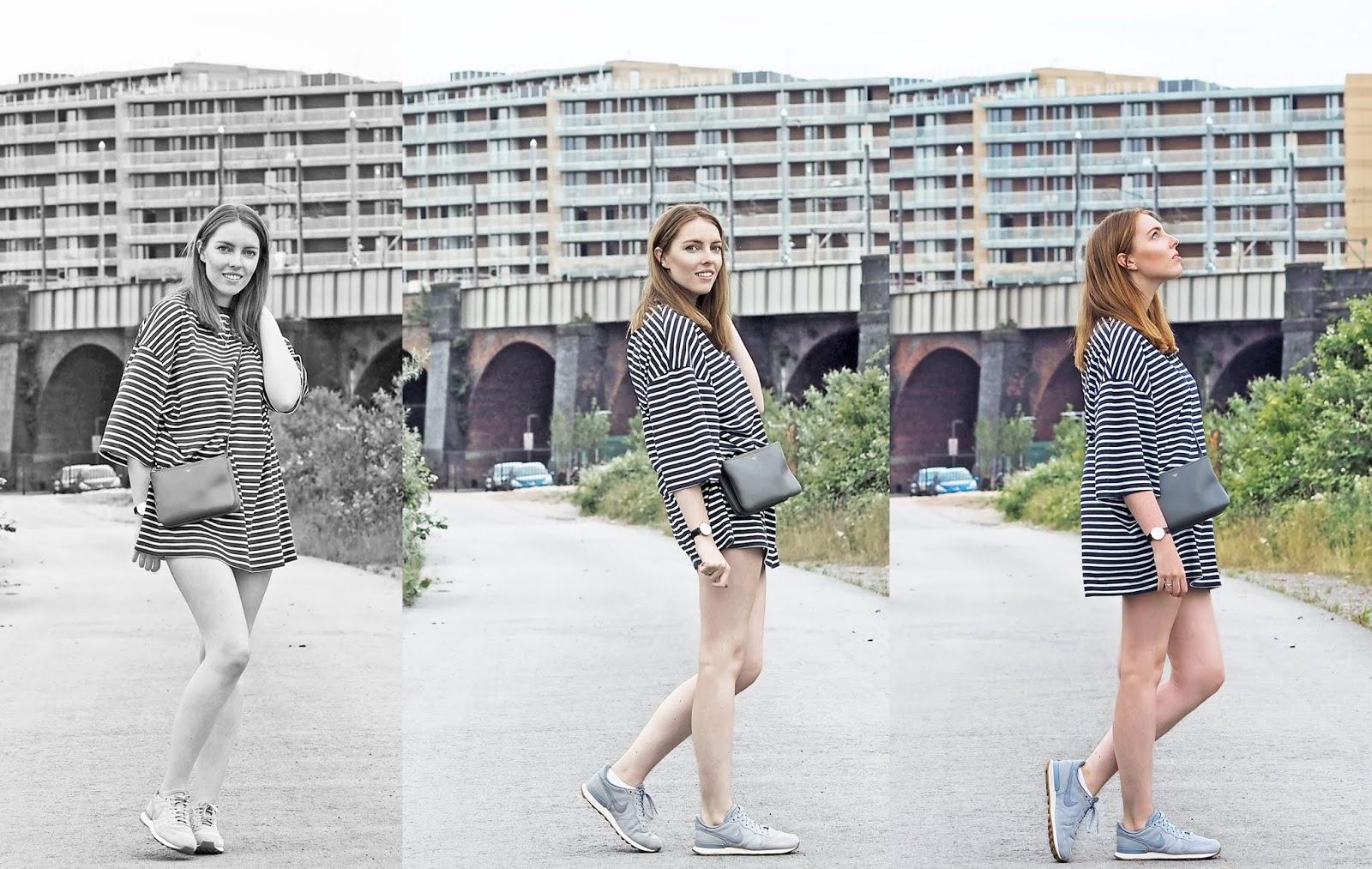 missguided striped t-shirt dress