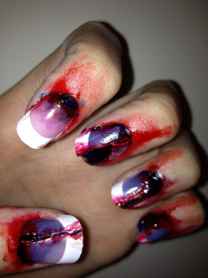 Nails by Mellissa.: Bloody Halloween Nails.