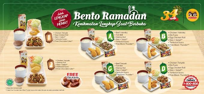 Bento Ramadan HokBen,  Paket Menu Berbuka yang Nikmat, Lengkap, dan Halal