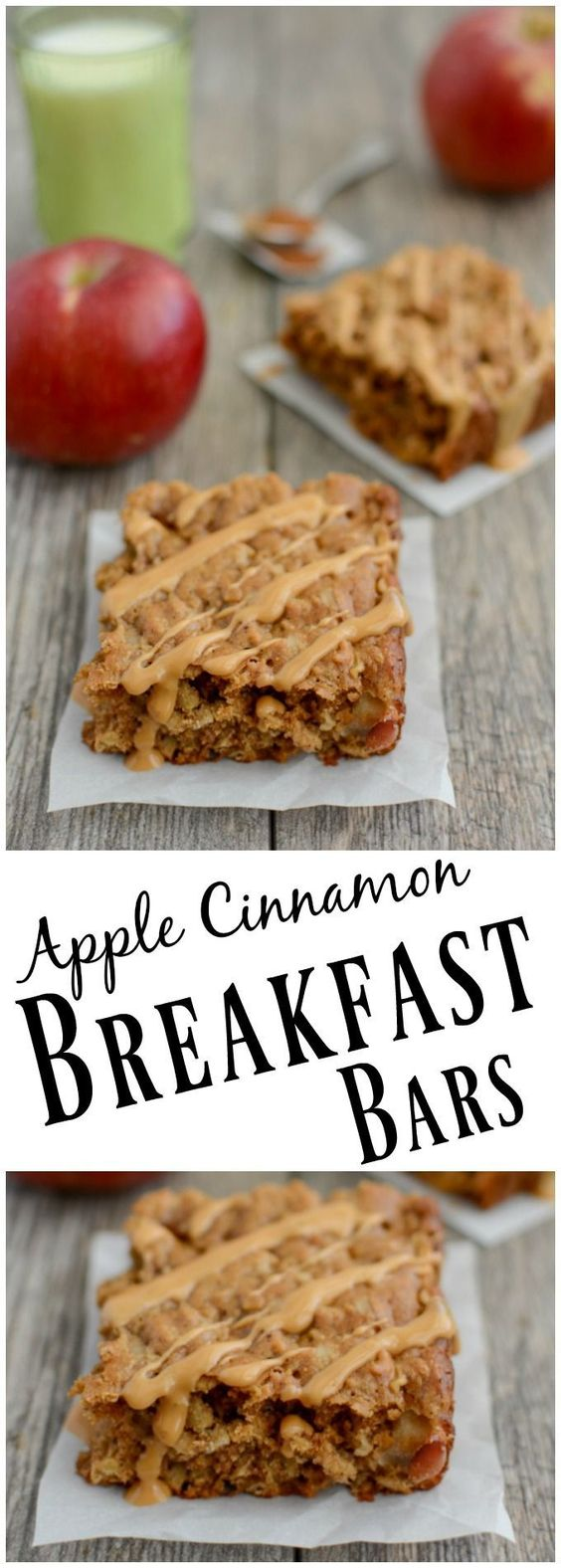 APPLE CINNAMON BREAKFAST BARS #apple #cinnamon #breakfast #breakfastideas #bars #healthysnack #healthysnackideas #healthyfood #healthyrecipes