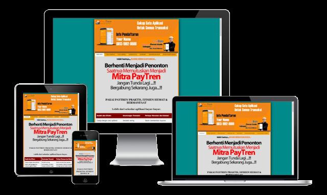 Minisite Paytren Blogspot Responsive