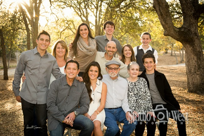 Family Reunion Portraits - Winter Portrait in CA - Portrait Photographer - Studio 101 West Photography