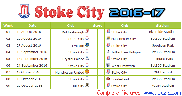 Download Jadwal Stoke City FC 2016-2017 File JPG - Download Kalender Lengkap Pertandingan Stoke City FC 2016-2017 File JPG - Download Stoke City FC Schedule Full Fixture File JPG - Schedule with Score Coloumn