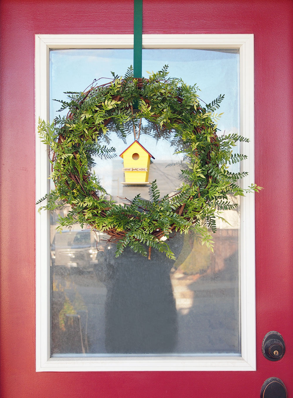 Diy Spring Wreath For The Front Door Ting And Things