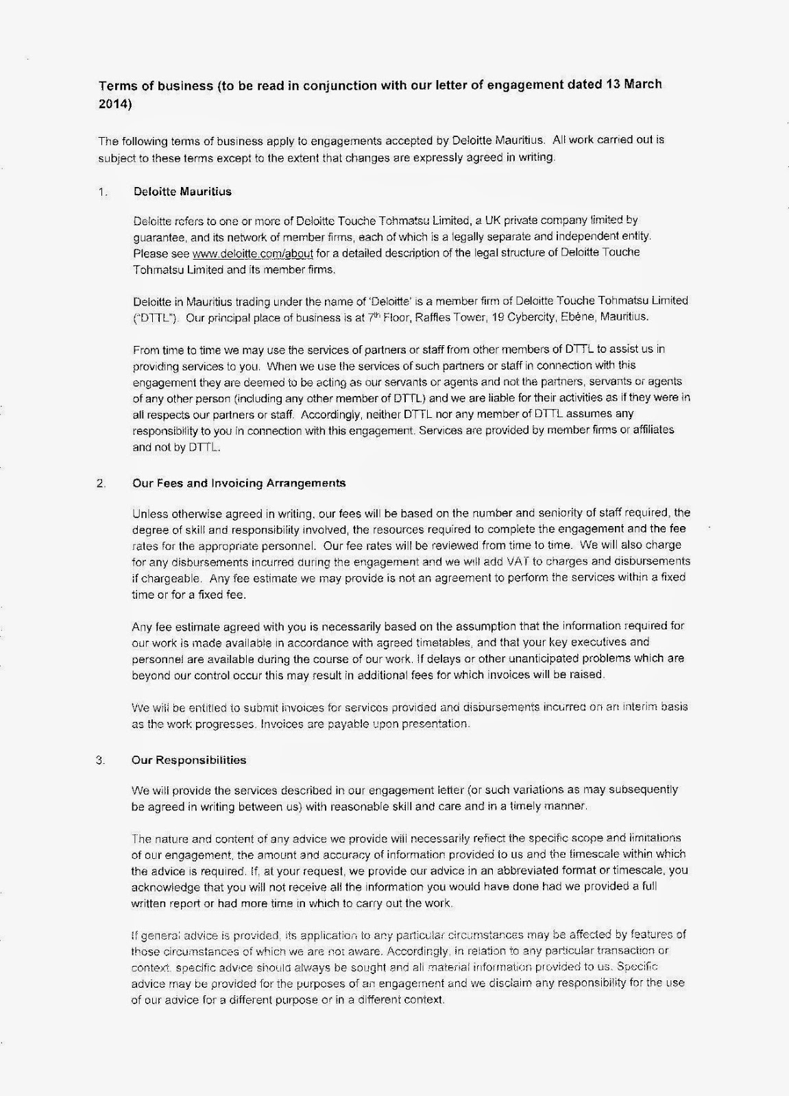Agreed Upon Procedures Engagement Letter
