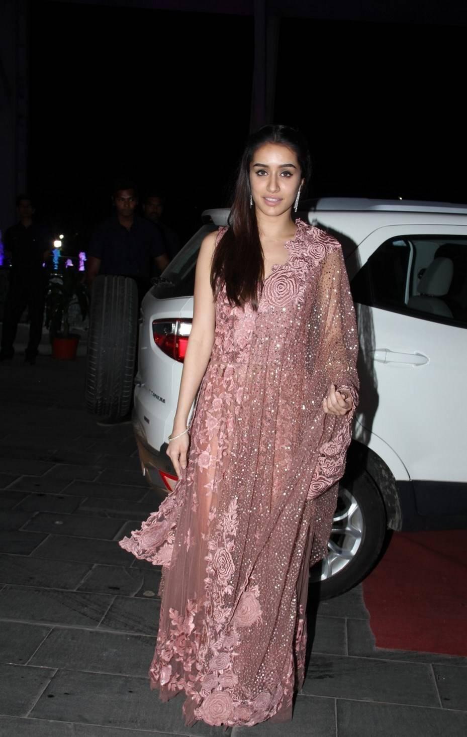 Bollywood Actress Stills In Pink Dress Shraddha Kapoor