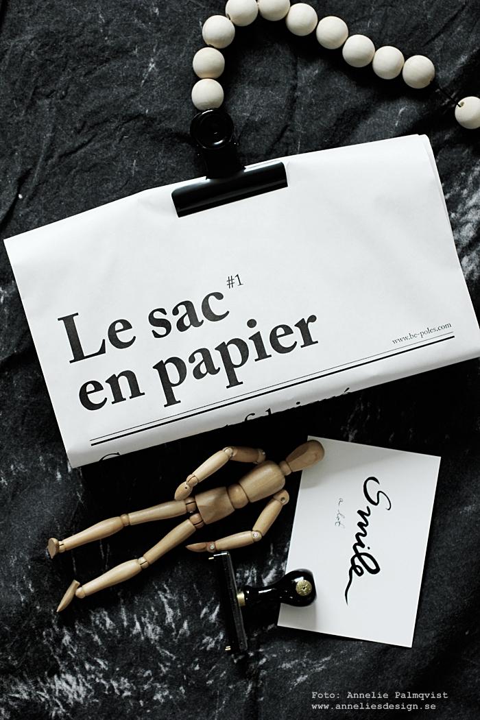 le sac en papier, posterhängare, påse, påsar, papperspåse, papperspåsar, annelies design, webbutik, webbutiker, webshop, klämma, klämmor, clips,