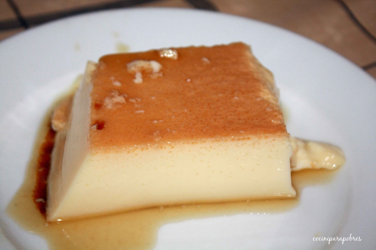 Flan De Huevo Baño Maria | Cocina Para Pobres Flan De Huevo Receta Tradicional Al Bano Maria
