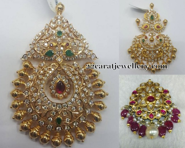Large Gold Pendant Sets Jewellery Designs