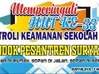 Download Contoh Spanduk HUT Patroli Keamanan Sekolah Format CDR