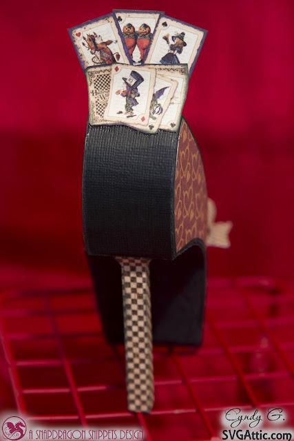 3d paper shoe - back