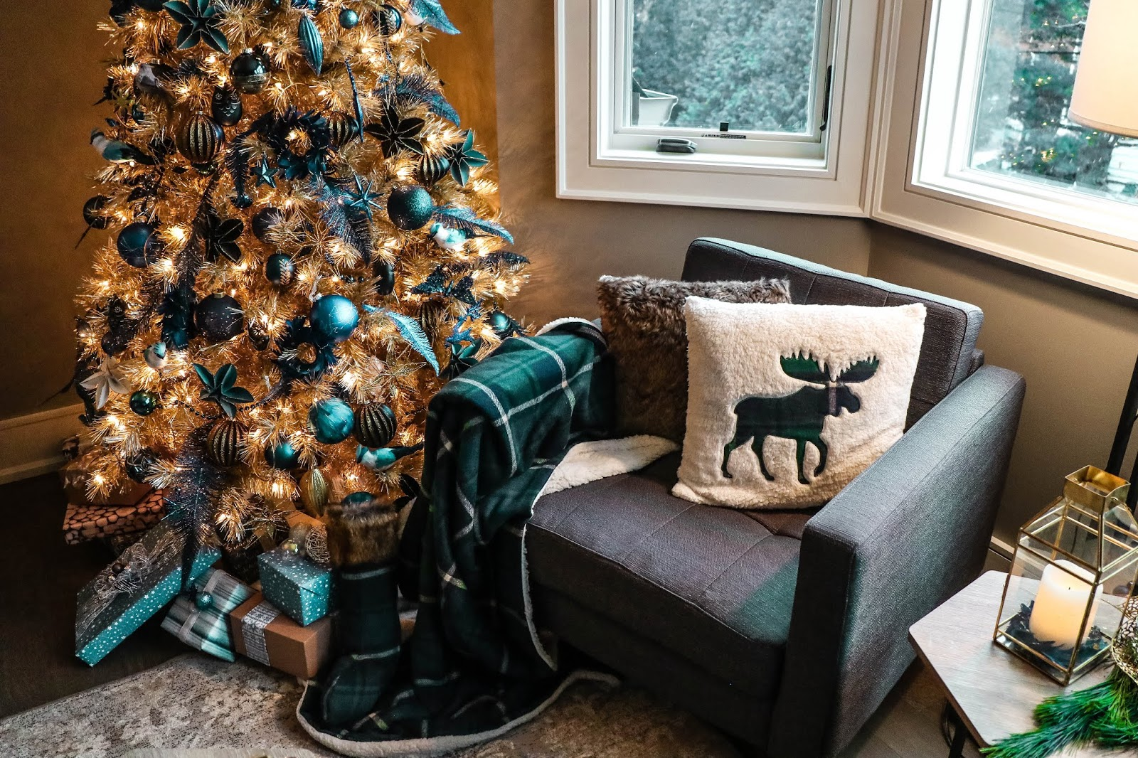 Canadian Tire Christmas Holiday Decor Inspiration Blue Teal
