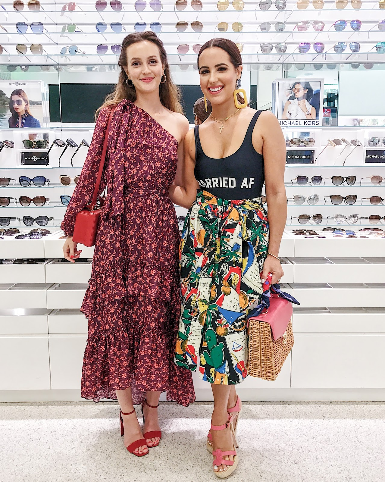 Leighton Meester and Kelly Saks attend the Sunglass Hut 'Made for Summer' Event during Miami Swim Week