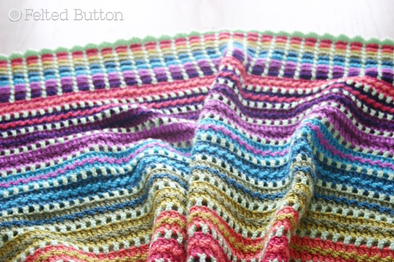 Skittles Blanket Free Crochet Pattern by Susan Carlson of Felted Button