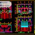مخطط مشروع منزل دوبلكس بشكل بسيط اوتوكاد dwg