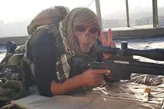 Skull wearing soldiers battling ISIS in Monsul