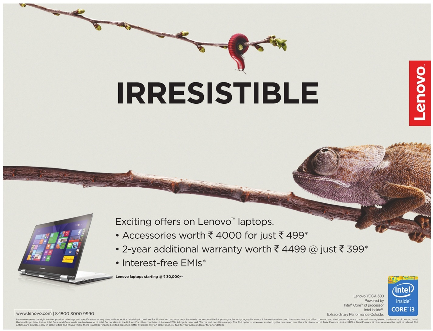 Exciting offers on Lenovo laptops. | April 2016 discount offer