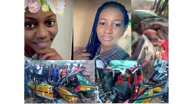 Two final year students of the Kwara State Polytechnic dies in an auto crash [PHOTOS].