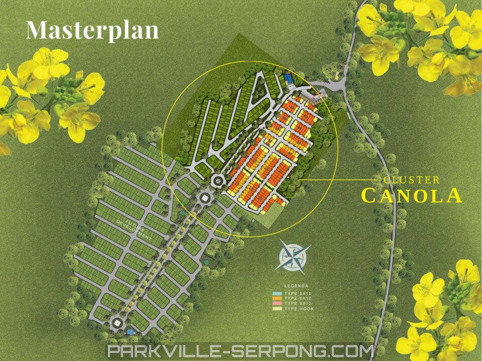 Master Plan Canola Park ParkVille Serpong